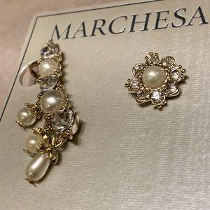 kate spade Jewelry - Marchesa! Pearl & Crystal  Stud Earrings